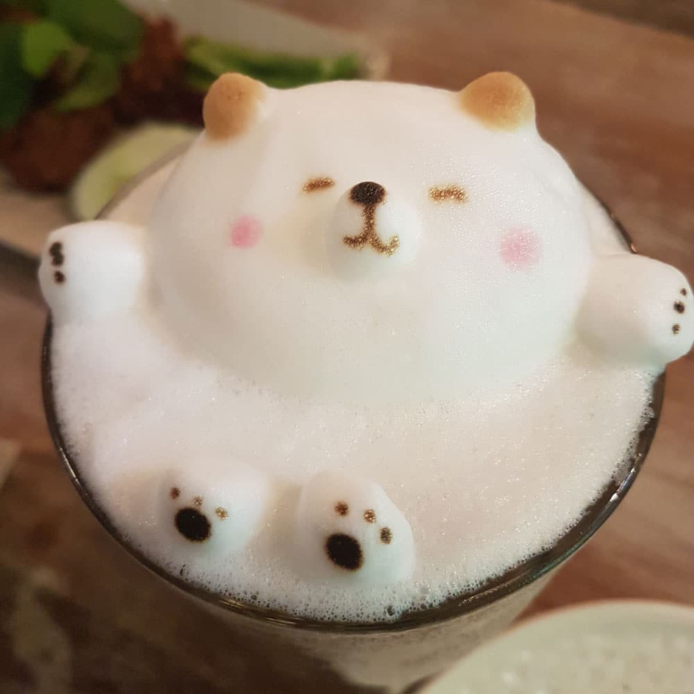 Latte arte machine levier San Marco