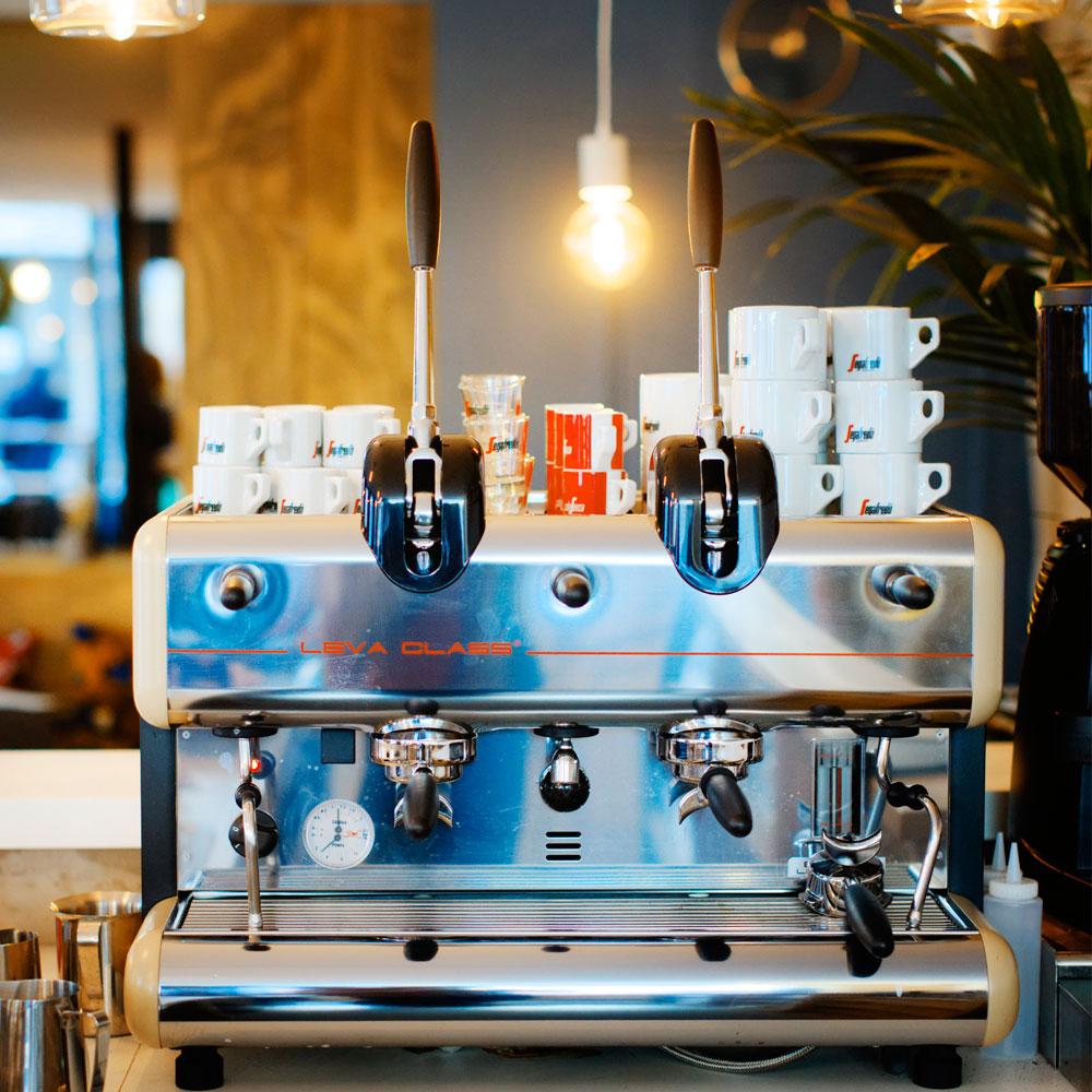machine à café à levier